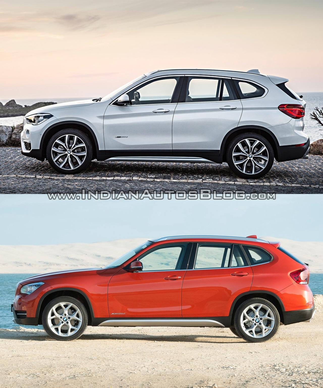 2016 bmw x1 vs 2014 bmw x1 side old vs new. Black Bedroom Furniture Sets. Home Design Ideas