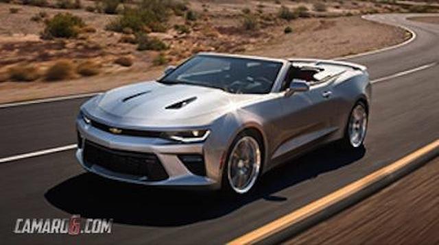 2016 Chevrolet Camaro convertible front three quarter leaked
