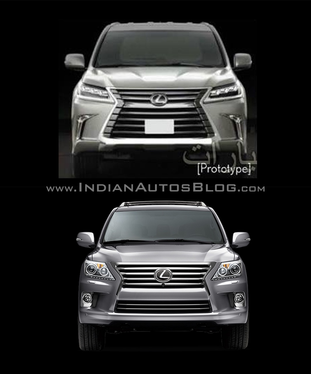 2016 Lexus LX570 vs 2014 Lexus LX570 front Old vs New