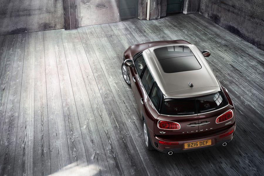 2016 Mini Clubman S top rear official gallery surfaces