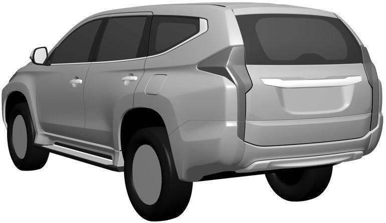 2016 Mitsubishi Pajero Sport rear quarter patent leak