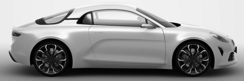 2016 Renault Alpine near-production concept side revealed in patent images