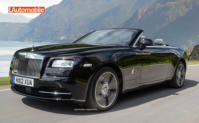 2016 Rolls Royce Dawn front three quarter unofficial render
