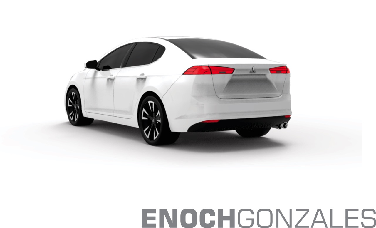 2017 Mitsubishi Lancer rear quarter unofficial rendering