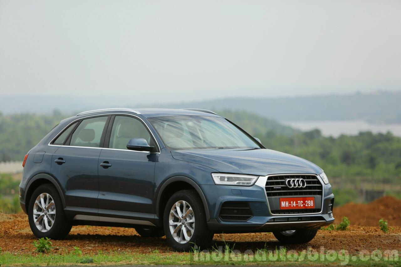 Audi Q3 facelift front three quarters India Review
