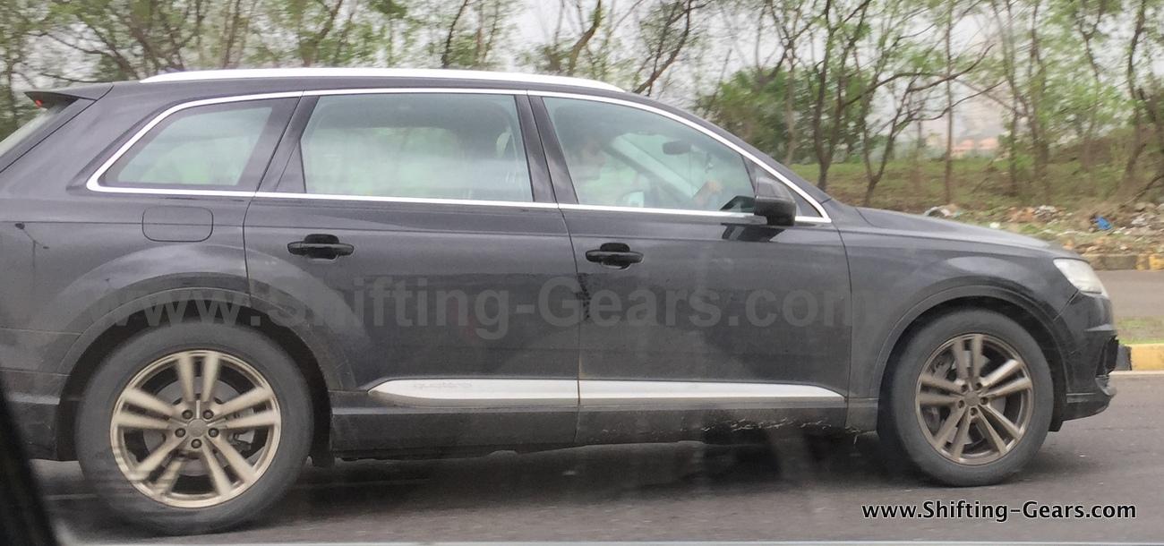 Audi SQ7 profile India spied