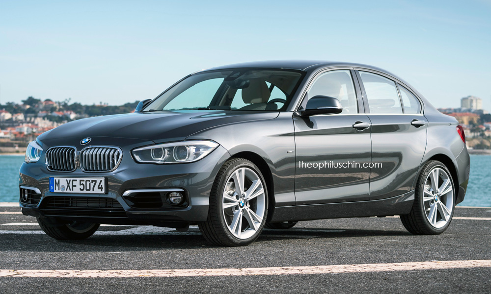BMW 1 Series sedan (FWD, UKL based) front render