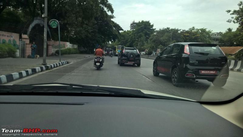 Fiat Avventura Abarth India spied