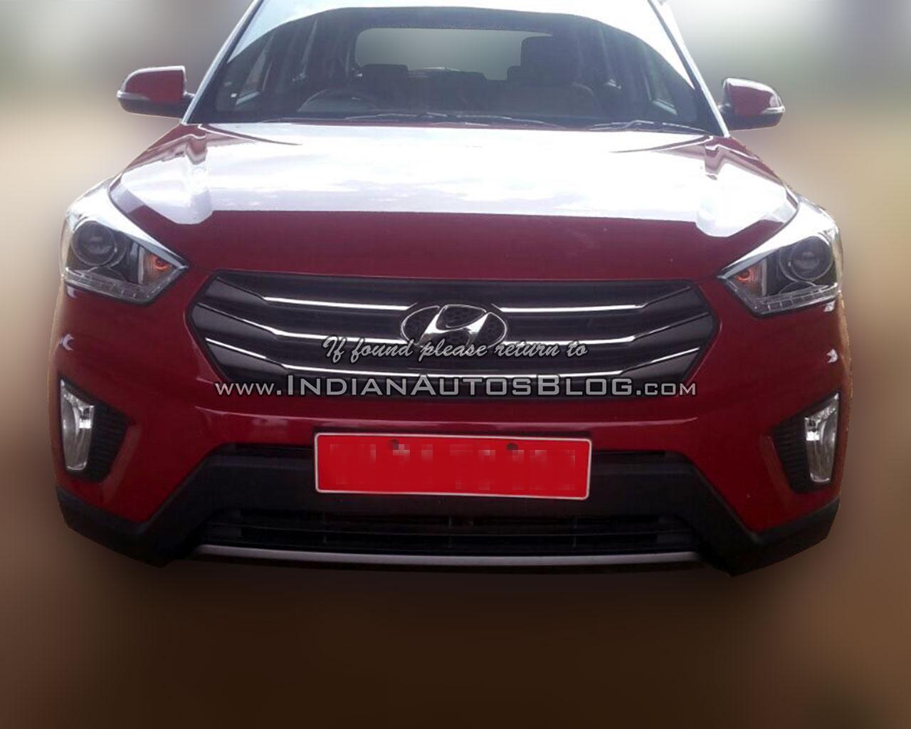 Hyundai Creta SX front spied