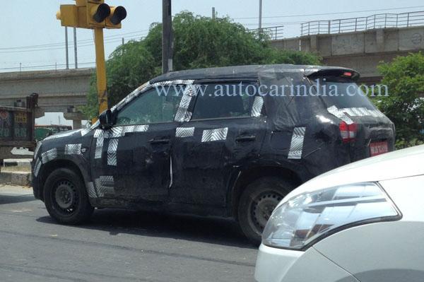 Maruti YBA sub-4m SUV spied India