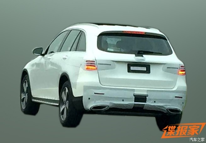 Mercedes GLC rear spied China