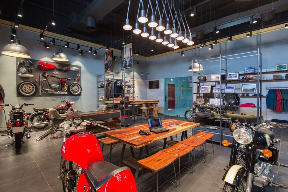 Royal Enfield Dubai Showroom interior official