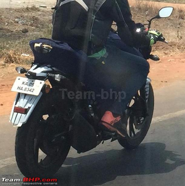TVS Apache rear three quarter spied
