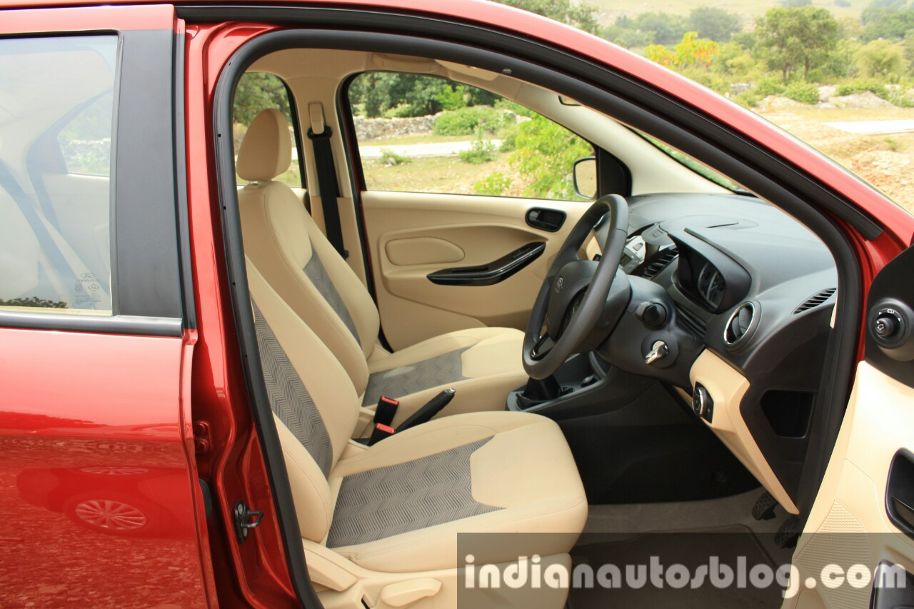 2015 Ford Figo Aspire Titanium 1.5 Diesel front cabin first drive review