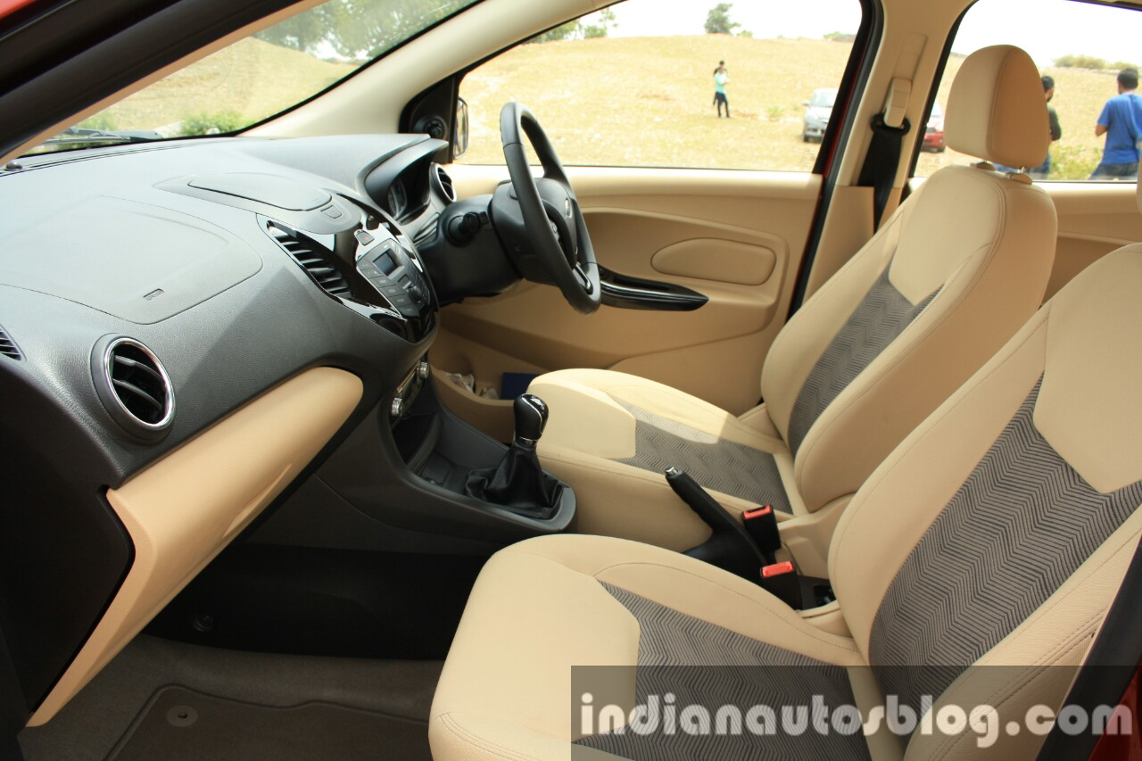 2015 Ford Figo Aspire Titanium 1.5 Diesel interior first drive review