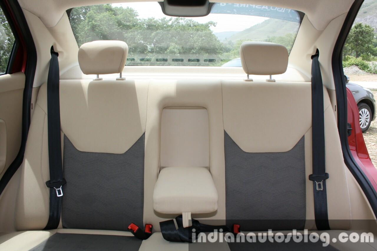 2015 Ford Figo Aspire Titanium 1.5 Diesel rear seats first drive review