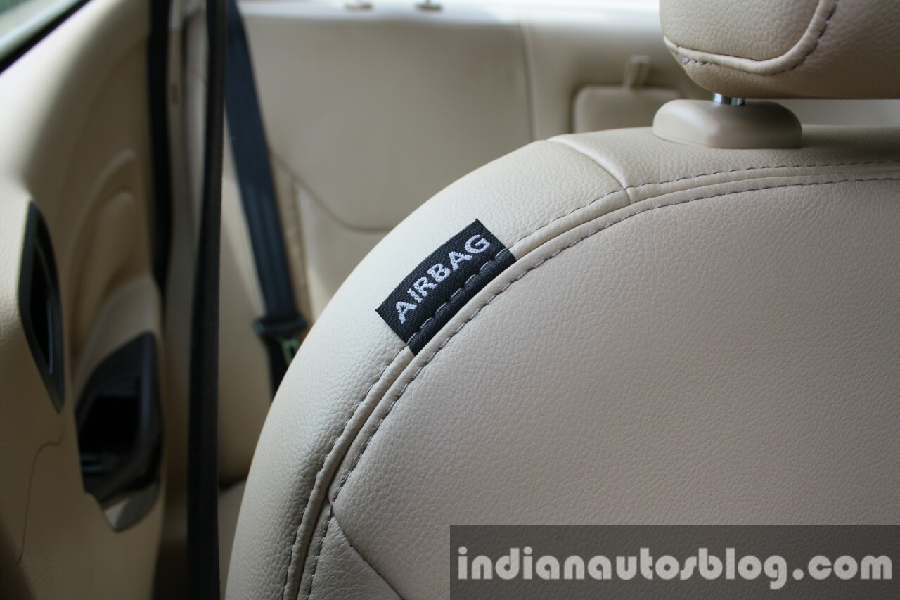 2015 Ford Figo Aspire Titanium Plus 1.2 Petrol side airbag first drive review