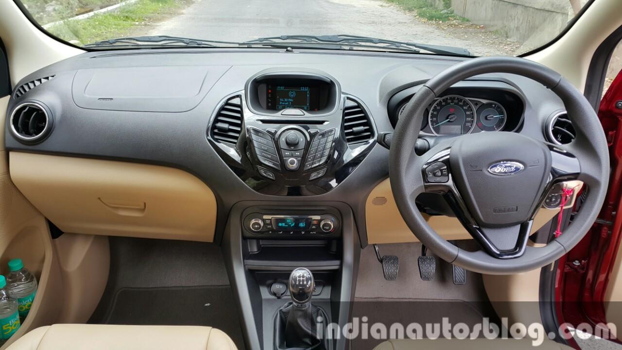 2015 Ford Figo Aspire Titanium Plus petrol dashboard first drive review