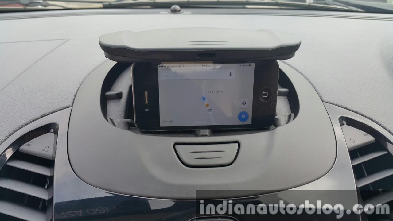 2015 Ford Figo Aspire Titanium phone dock first drive review