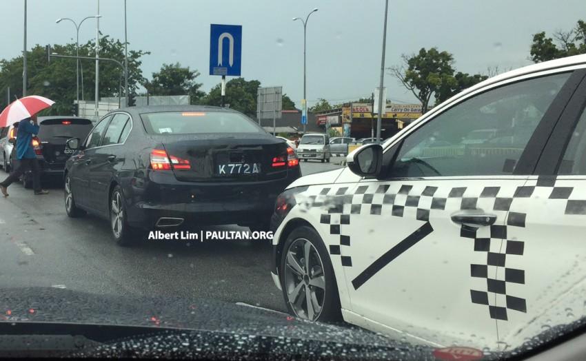 2015 Peugeot 408 RHD rear quarter testing in Malaysia