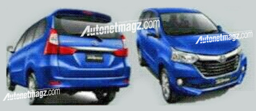 2015 Toyota Avanza facelift front and rear three quarter official photos leak