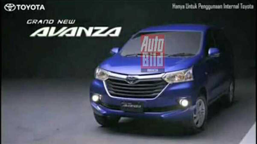 2015 Toyota Grand New Avanza front three quarter brochure shot leak