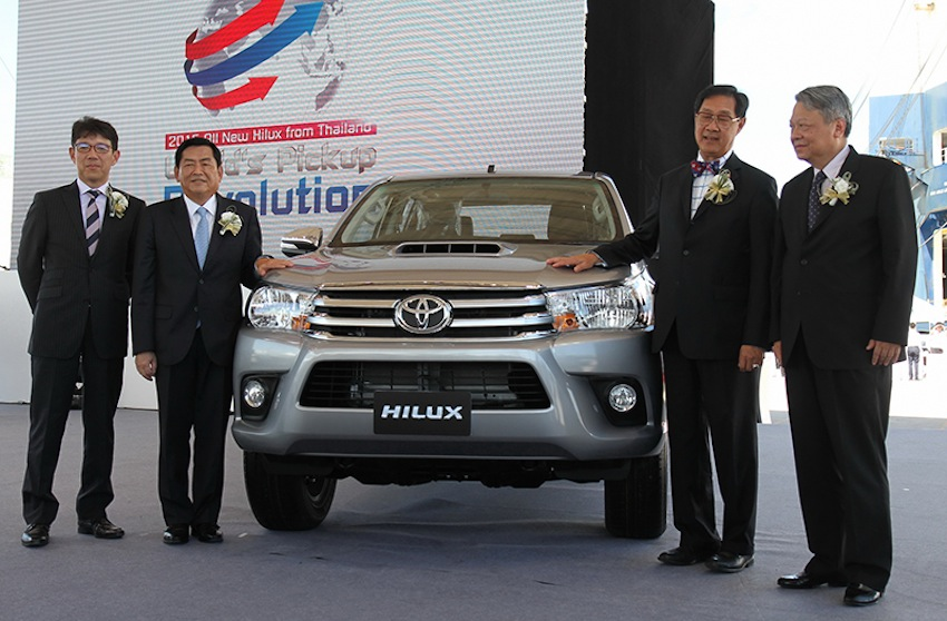 2015 Toyota Hilux exports ceremony press image