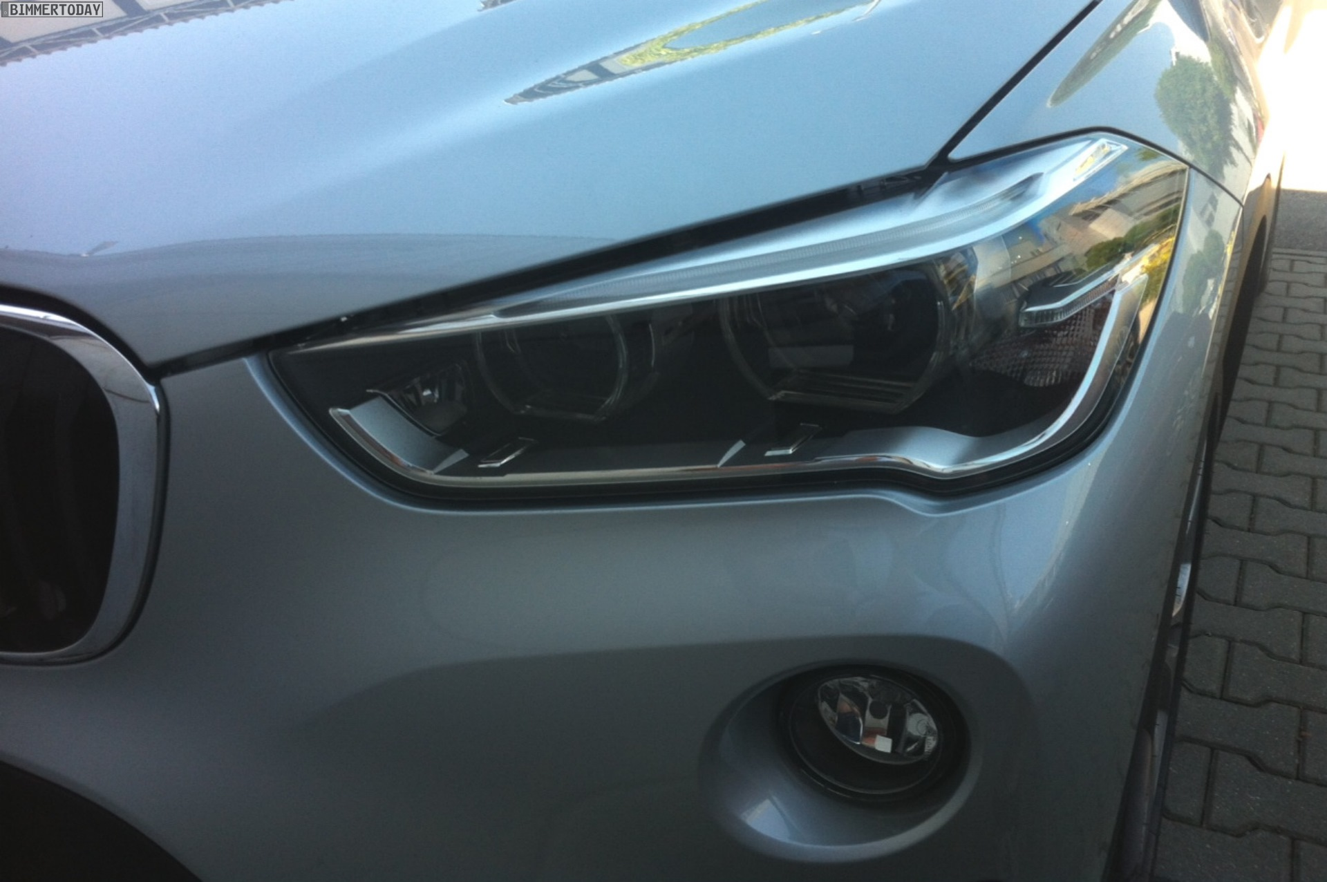 2016 BMW X1 headlamp spotted in the wild post unveil