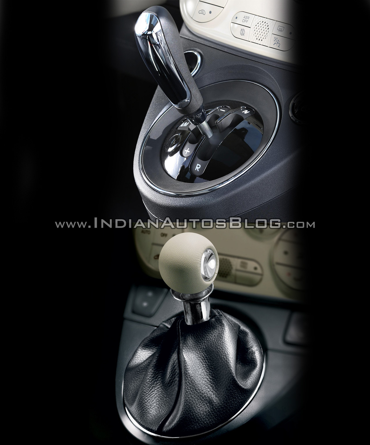 2016 Fiat 500 (facelift) vs 2007 Fiat 500 gear shifter Old vs New