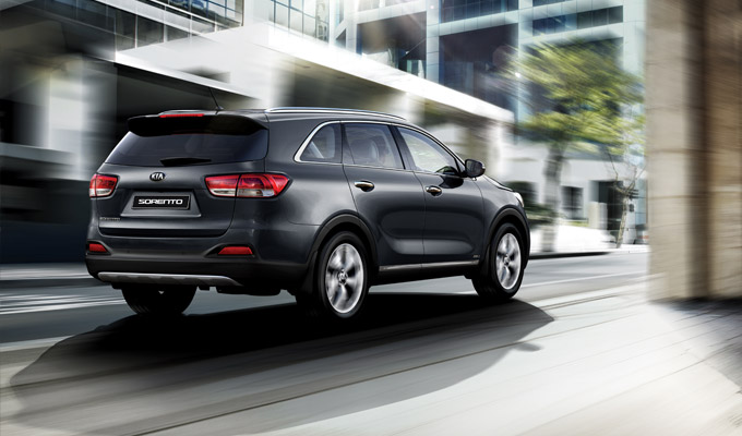 2016 Kia Sorento rear quarter launched in South Africa