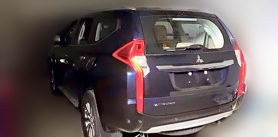 2016 Mitsubishi Pajero Sport rear revealed