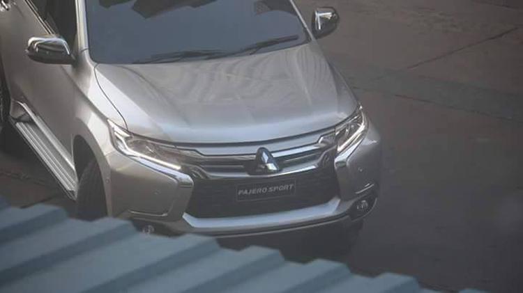 2016 Mitsubishi Pajero Sport revealed front