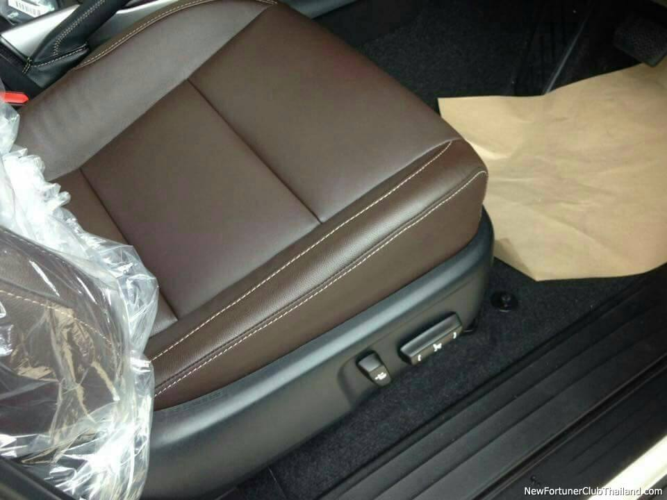 2016 Toyota Fortuner driver seat spyshot from Thailand