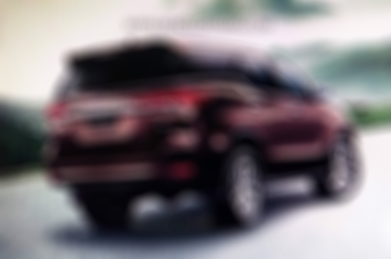 2016 Toyota Fortuner rear teased
