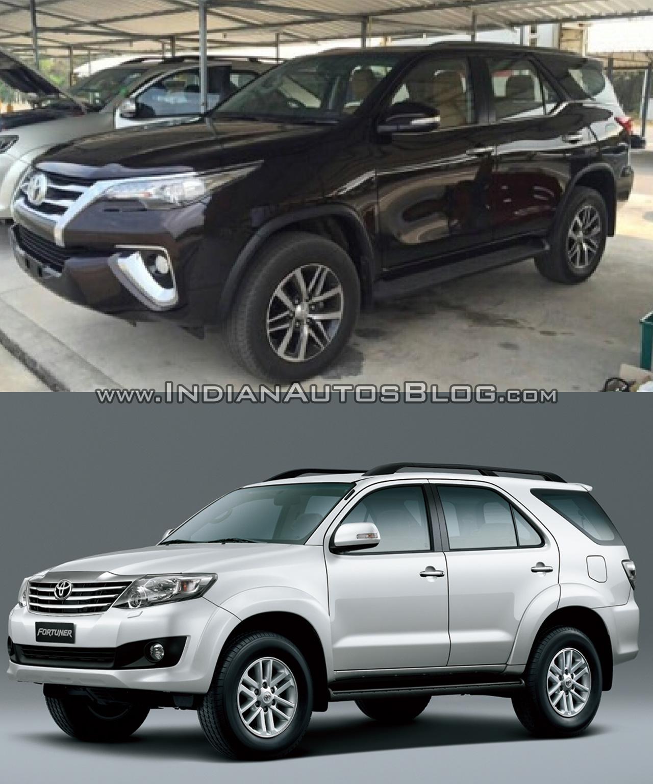 2016 Toyota Fortuner side vs older model