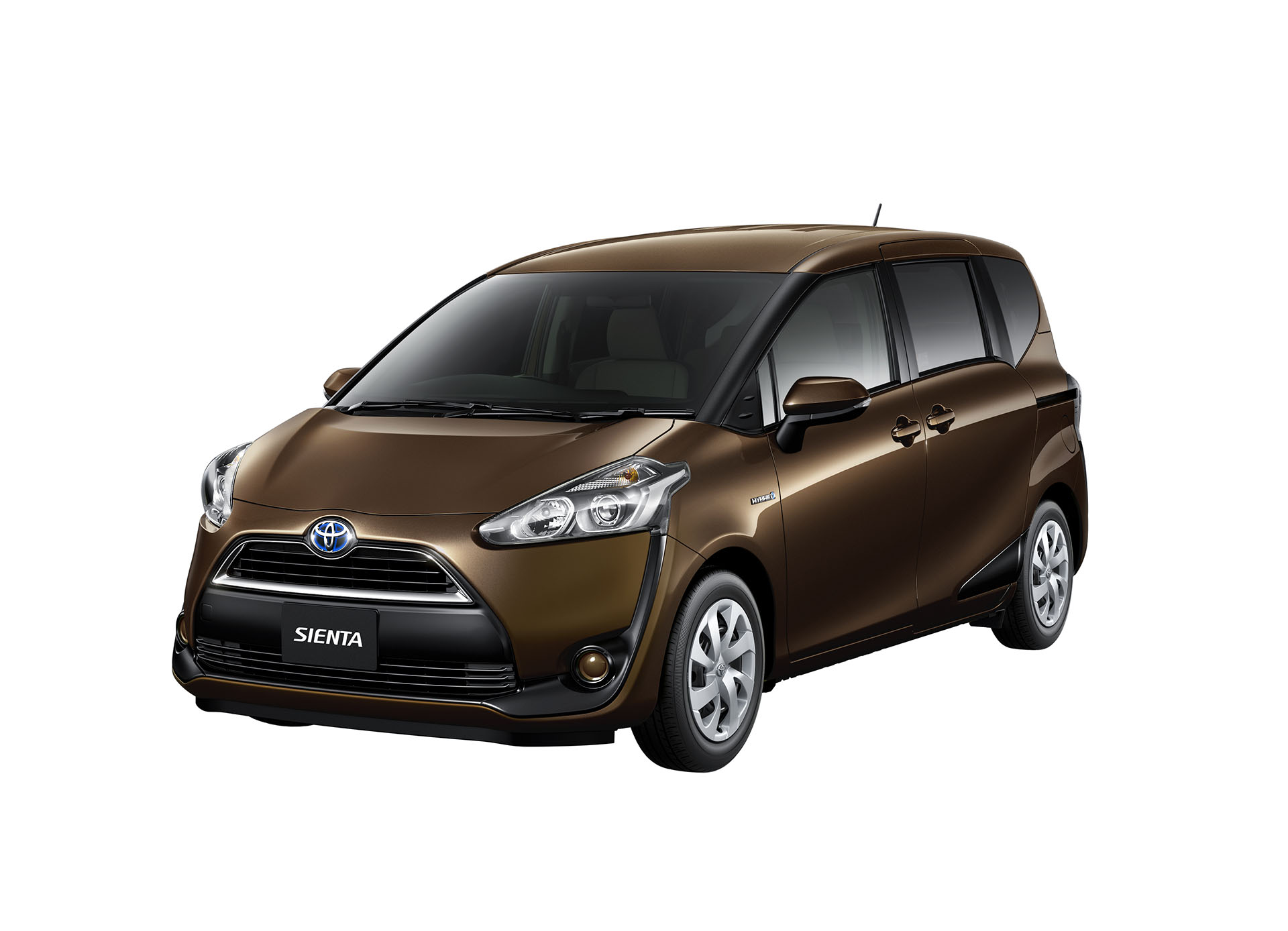 2016 Toyota Sienta front quarter in brown unveiled in Japan