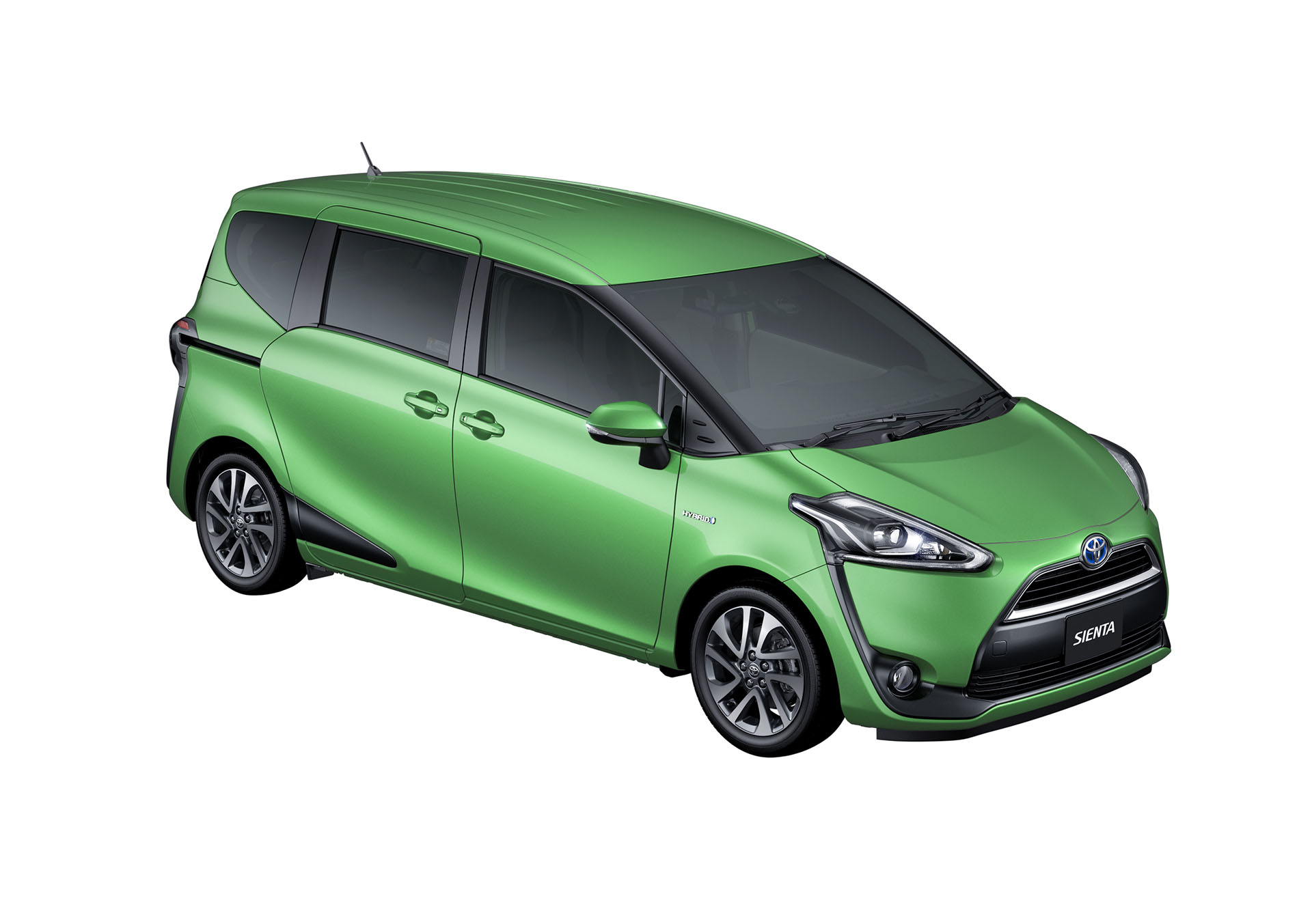 2016 Toyota Sienta front three quarter in green unveiled in Japan