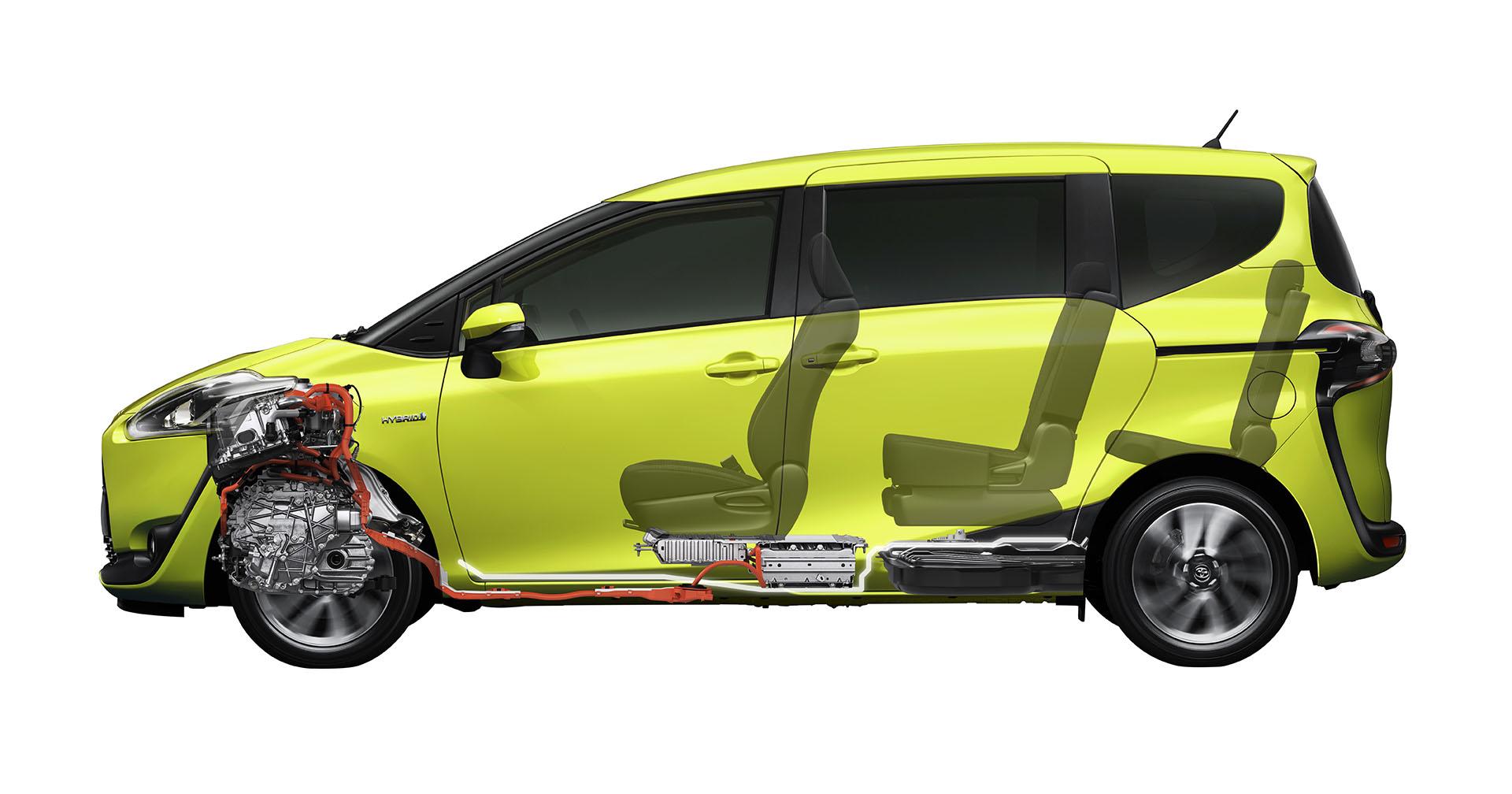 2016 Toyota Sienta hybrid powetrain unveiled in Japan