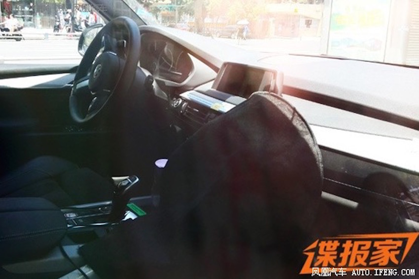 2017 BMW 1 Series sedan interior spotted testing in China