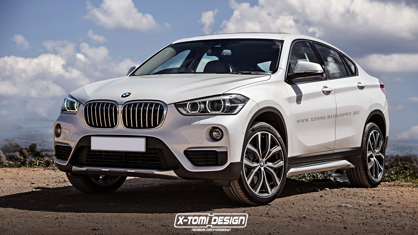 2017 BMW X2 front three quarter unofficial rendering