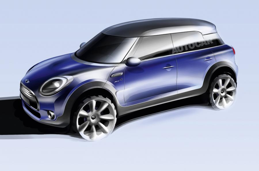 2017 Mini Countryman front three quarter unofficial rendering