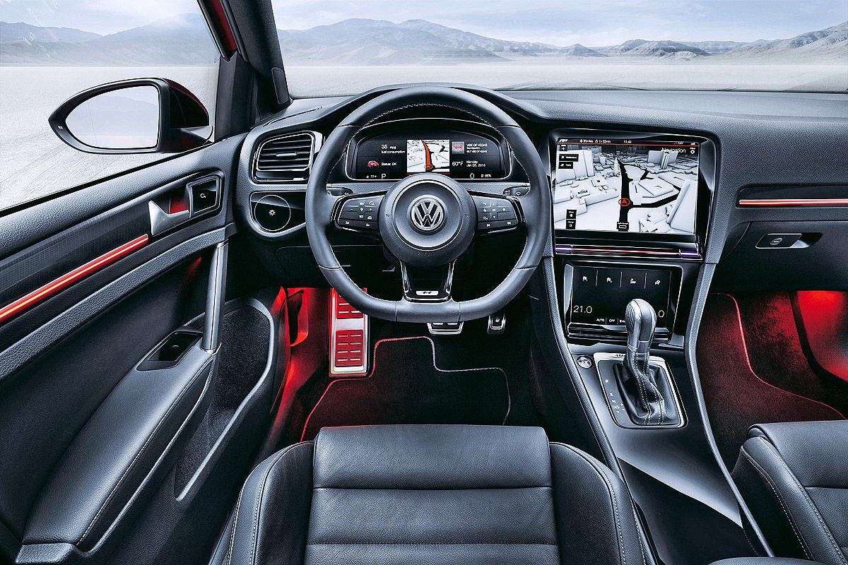 vw golf gti mk viii interior rendering