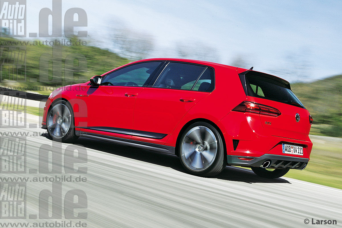 2019 vw golf gti mk viii rear three quarter rendering. Black Bedroom Furniture Sets. Home Design Ideas