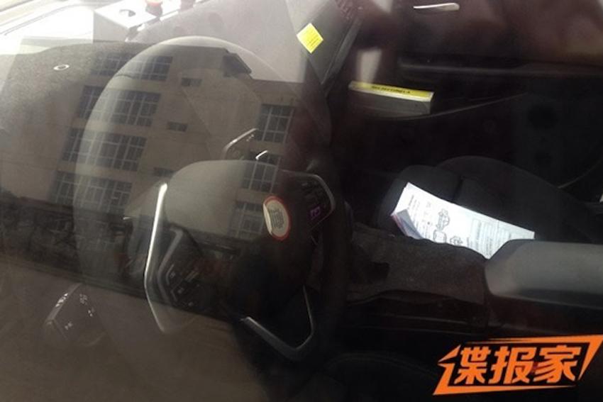 BMW 1 Series sedan interior spyshots from China