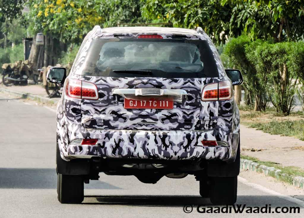 Chevrolet Trailblazer rear India spied again