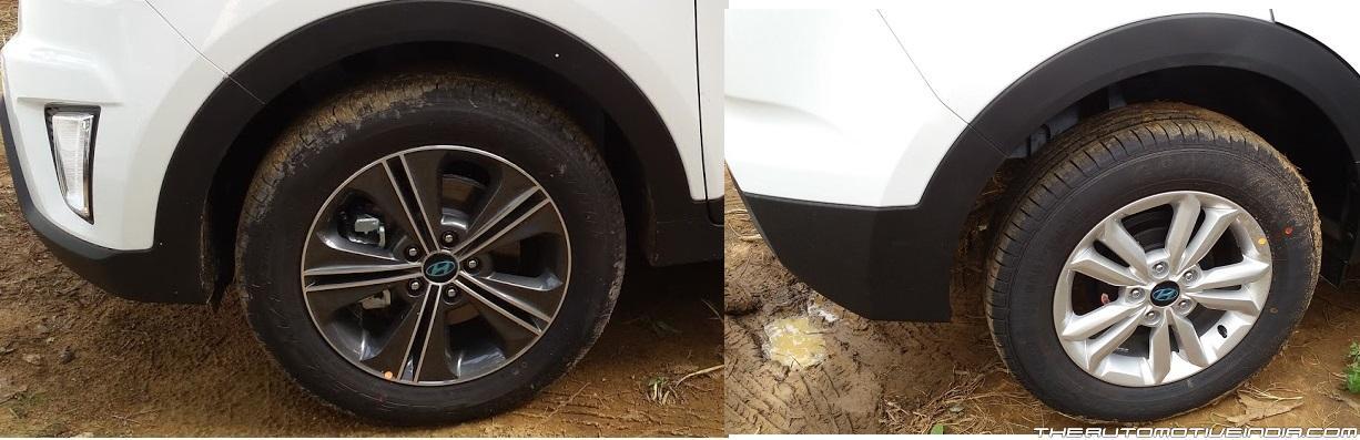 Hyundai Creta wheels dealership spied