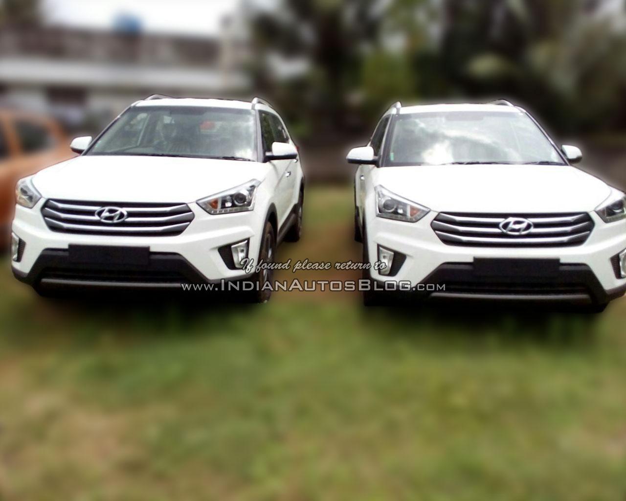 Hyundai Creta white dealer spied