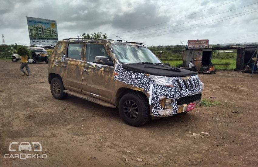 Mahindra U301 side new test mule revealing spyshot