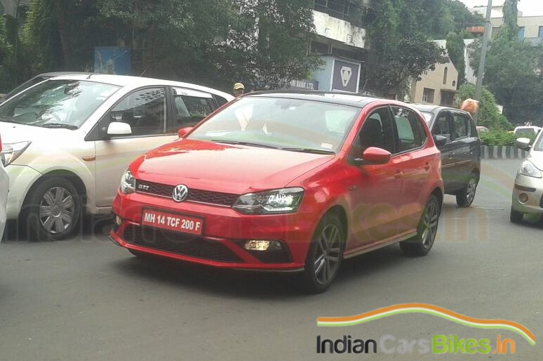 VW Polo GTI spied in India