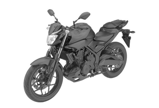 Yamaha MT-03 front three quarter